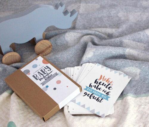 Baby-Meilensteinkarten First Love für Jungs und Mädels