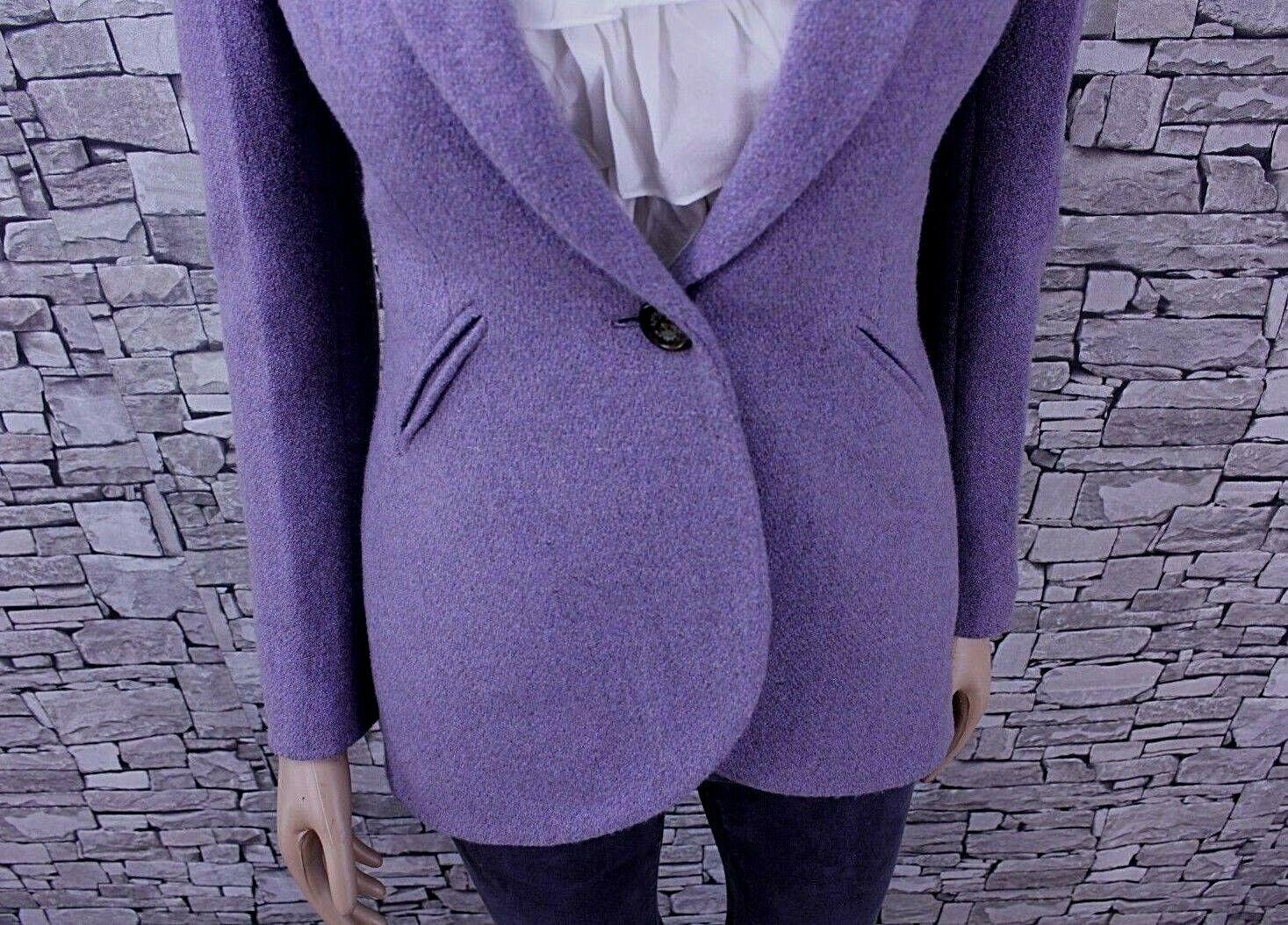 Ralph  Lauren lana Mix SEÑORA BLAZER chaqueta púrpura 34 nuevo con etiqueta  Centro comercial profesional integrado en línea.