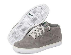 New Nike Suketo Mid Leather / Suede 525310 001 Gray sizes 7  7.5 8 8.5