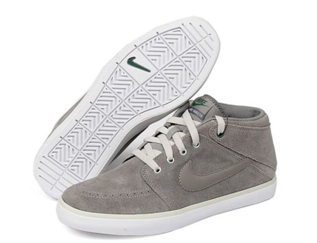 Nike Suketo Mid Leather Men US 8.5 Gray SNEAKERS Blemish 12462