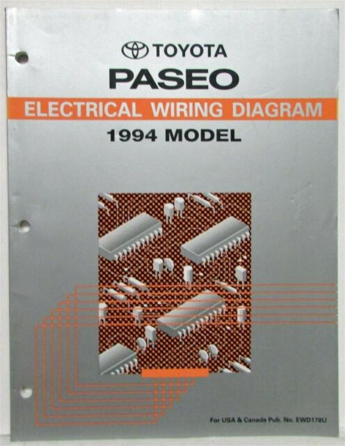 1994 Toyota Paseo Electrical Wiring Diagram Manual Us