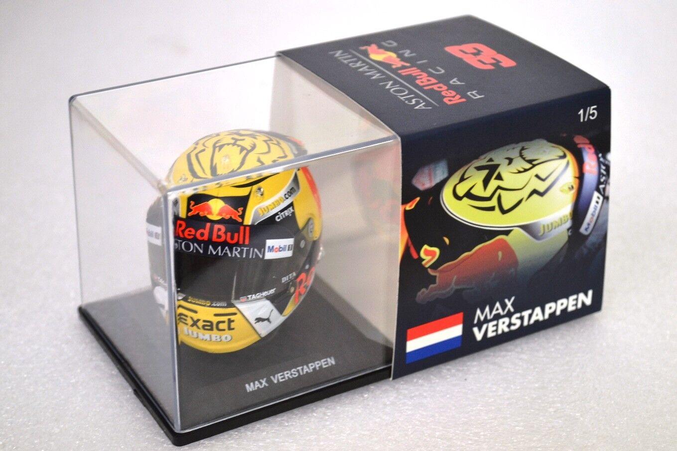 Max Verstappen rosso Bull Helmet 1/5 Austrian Grand Prix 2018 Season no 1/8 no 1/2