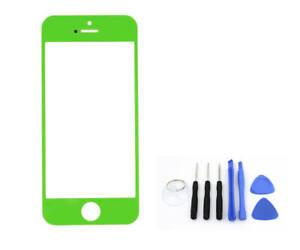 Verre Devant Pour IPHONE 5 5S 5C Vert Couleur Verre Écran Tactile Neuf & Ovp