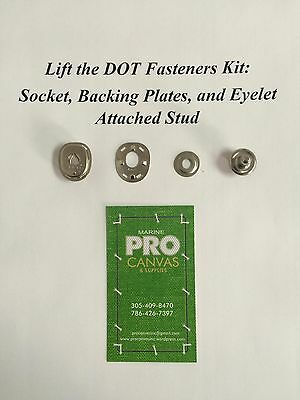 "Lift The Dot Fastener Socket Backing Plate /& 1//2/"" Stainless Screw Stud 10sets"