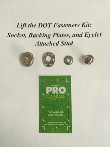 Lift the Dot S.S Socket and Eyelet Attached Stud 50 sets Backing Plates