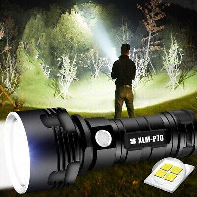 90000lm Taschenlampe LED XHP70 Taktisches Fackel USB Wiederaufladbare Batterie