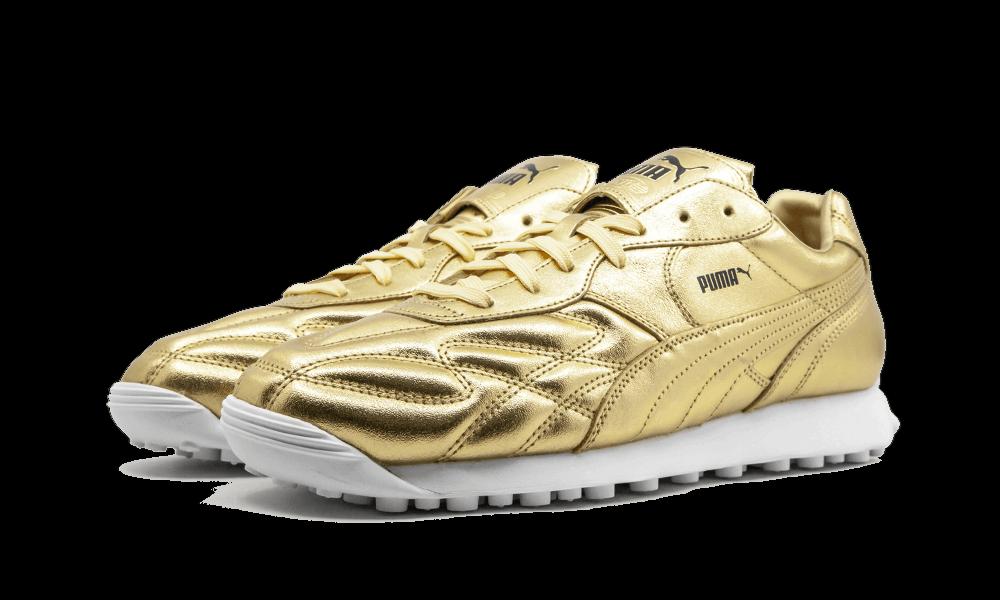 Puma re AVANTI TROPHY Leather oro classeic sautope da ginnastica Men's Dimensione 10 nuovo Sautope classeiche da uomo