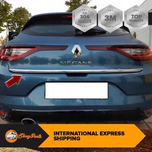 2016Up Renault Megane IV Hb Cromo Maletero Tapa Moldura Embellecedor S. Acero