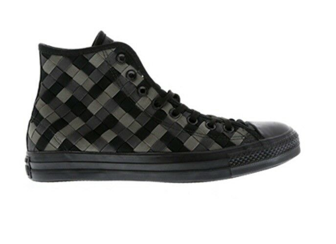 Mens Converse Chuck Taylor Woven All Star 2 Hi Woven Taylor lace Up schwarz Grau Schuhes a3a908