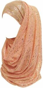 GIFTS UNDER 10 DOLLARS LADIES SCARF LINA & LILY GOLD FLAKE HIJAB