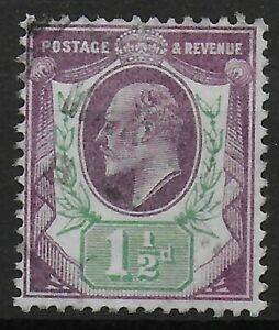 SG221-1-amp-1-2d-Dull-Purple-amp-Green-Superb-Used-Unmarked-Back-Ref-0727
