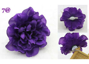 New womens silk rose dark purple artificial flowers hair accessory image is loading new women 039 s silk rose dark purple mightylinksfo