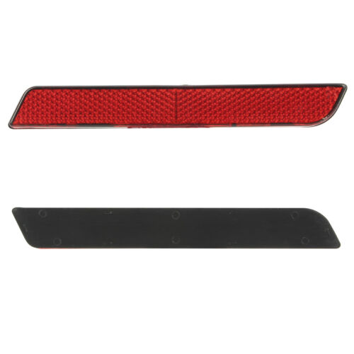 Red Reflectors Saddle Bag Latch Cover For Harley 1994-2013 Touring Electra Glide