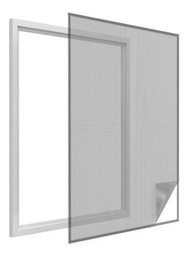 Klettband schwarz-silber Sonnenschutz-Fliegengitter Insektenschutz 130 150 cm