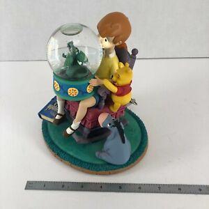 Winnie Pooh Christopher Robin Music Box Snowglobe King Arthur Disney Stor