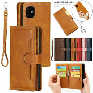 For iPhone 11 Pro Max 6s 7 8 Flip Leather Wallet Card Magnetic Case Stand Cover