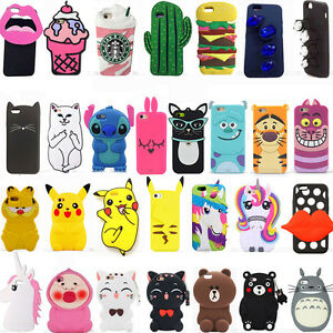 super popular 288c9 d6e30 Details about 3D Hot Soft Silicone Rubber Cute Animal Cartoon Phone Case  Cover Back For iPhone