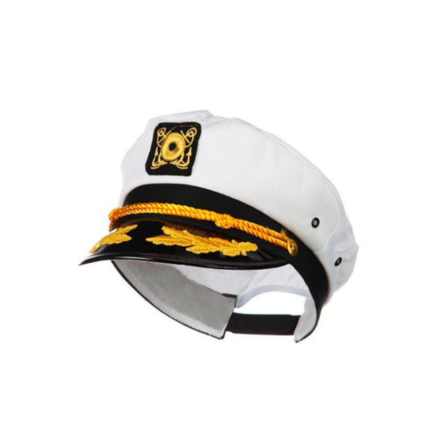 White Honourable Navy Hat Sailor Seaman Cap Costume Party For Kid And Adult