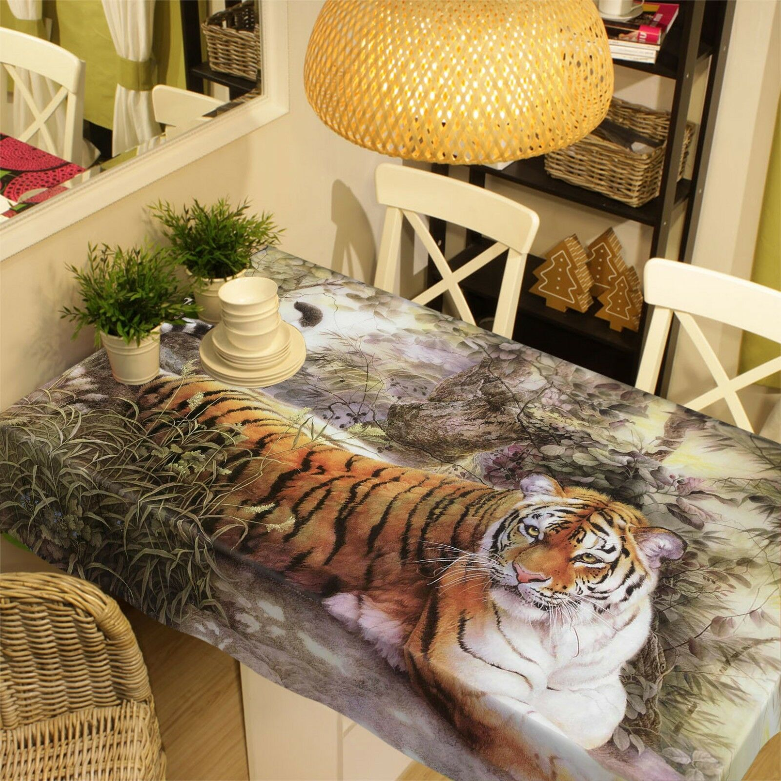 3D Tiger Paint 129 Tablecloth Table Cover Cloth Birthday Party Party Party Event AJ Summer 07c5ac