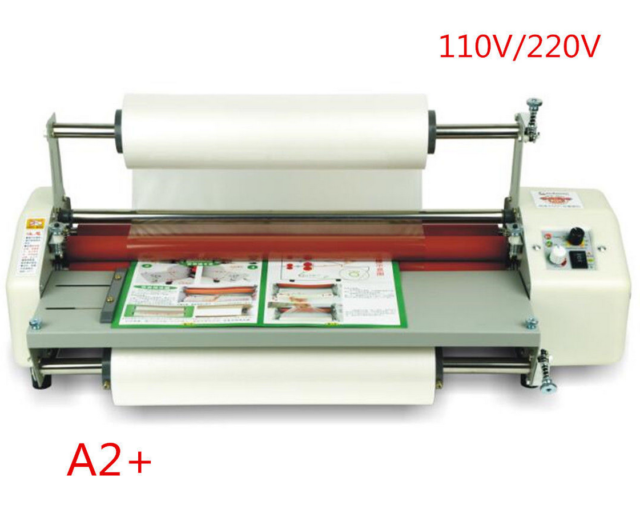 """17.5"""" A2 Roll Laminator Four Roller Hot Cold Laminating ..."""