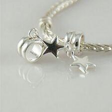 Stern - Weihnachten Solid 925 sterling silber europäisch hängende charms perle/