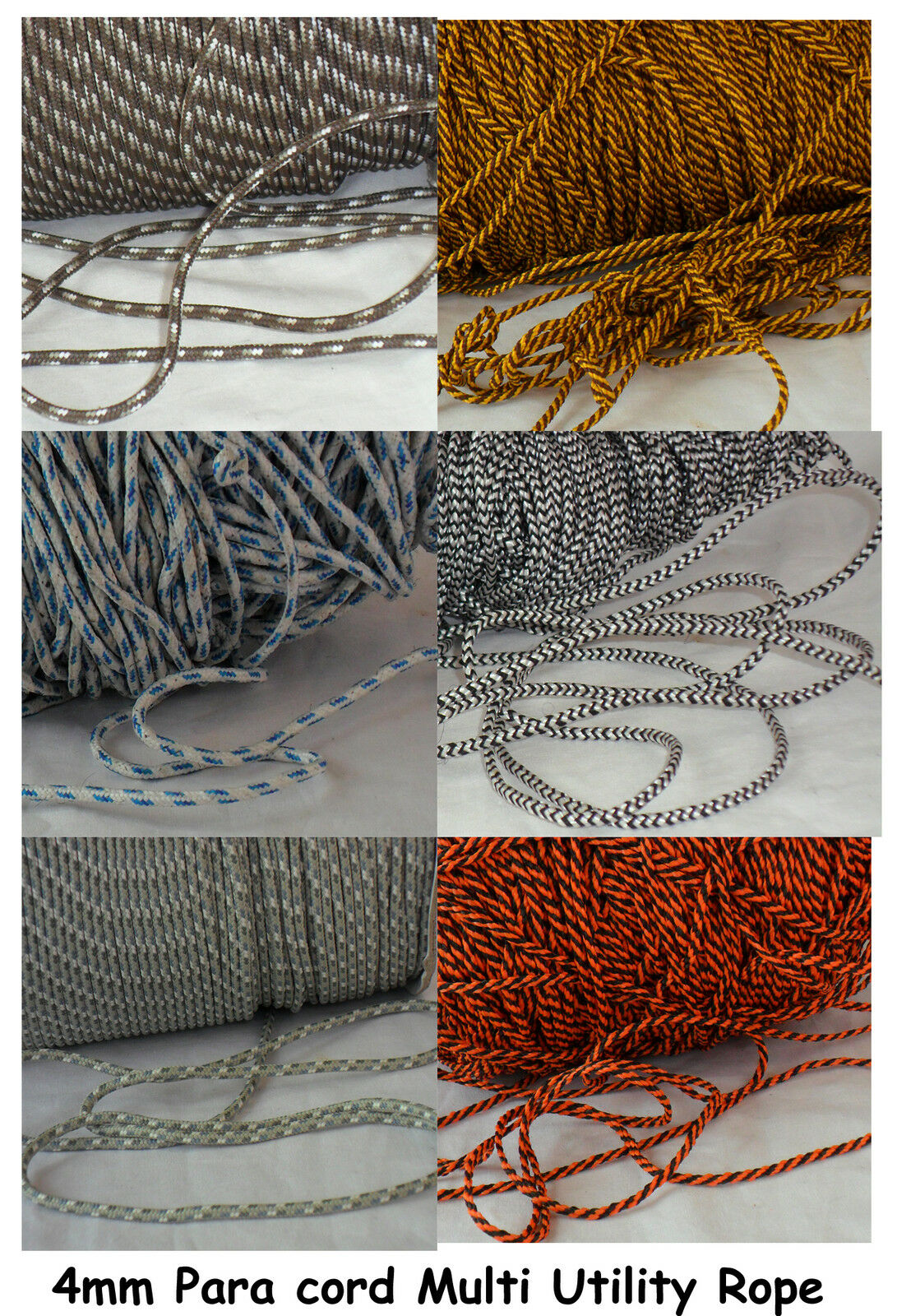 3mm Mousing Line Paracord POLYESTER Braided Guide Rope Blind light Camp Boat