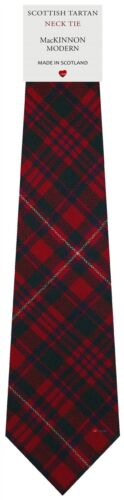 Mens Clan Tie Made in Scotland MacKinnon Modern Tartan
