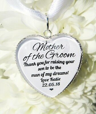Personalised Mother of Bride Groom Thank you Quote Greenery Ceramic Round Decoration Ornament Wedding Keepsake Personalized Ornament OR45