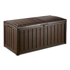 Keter Glenwood Deck Box Outdoor Patio Storage 103 Gallon Outdoor Furniture New