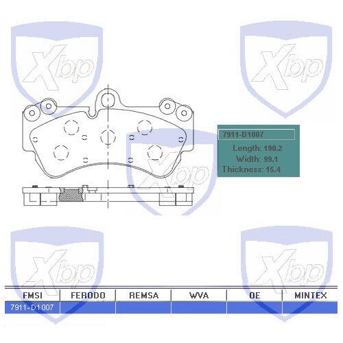 MD1007 Front Brake Pad SemiMetallic For Porsche Cayenne  Volkswagen Touareg