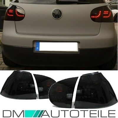 VW Golf 5 V GTI R LED Rear Lights Black Edition Tail Lights GTI 03-08 LED