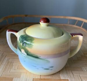 Vintage 3 Piece Noritake Japan Creamer and Covered Sugar Bowl,  Dish/tray