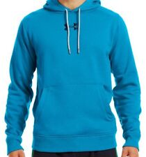 NEW UNDER ARMOUR Charged Cotton Storm Fleece Hoodie Pullover Aqua Blue XL