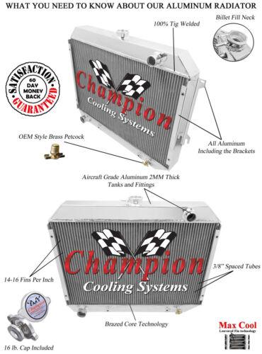 Champion Racing 3 Row Radiator For 1968 1969 1970 1971 1972 1973 Dodge Charger