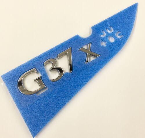 New OEM Infiniti G37x AWD Sedan Rear Emblem Badge
