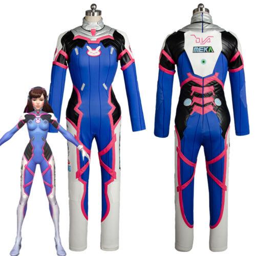 Overwatch Cosplay D.VA DVA Hana Song Dress Jumpsuit Battle Suit Uniform Costume