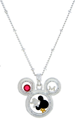 New Disney Authentic Charm Keeper Necklace✿Floating Memory Locket Mickey Classic