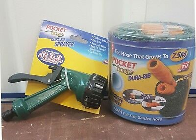 Connector Protector Sprayer Pocket Hose 22m Expandable Hose Pipe That Grows
