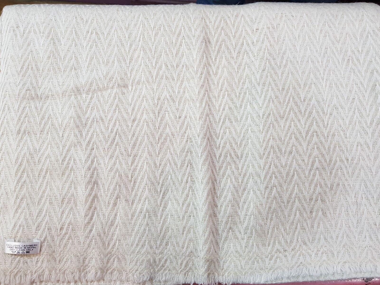 Heavy Wool Pashmina Cashmere Blanket Shawl Wrap Handmade Nepal Unisex 8ply