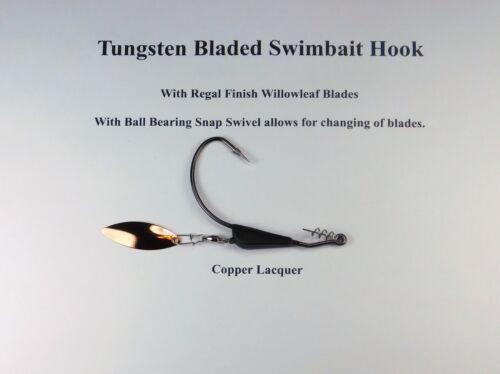 Bob 4 Bass Lame Tungstène pondérée articulé crochet avec roulement à billes pivotant avec clip