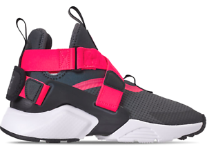 low priced 3c51d fe0eb Details about Nike Huarache City (GS) Big Kids' Shoes Anthracite Black  Solar Red