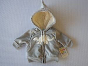 f4bc2e0c2 Healthtex Infant Baby Toddler Boys Grey Dinosaur Jacket Sweatshirt ...