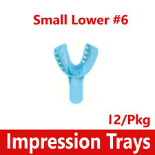 Dental Impression Trays Perforated Plastic Disposable 6 Small Lower 6 12bg
