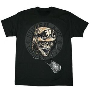 """c8e1e970 Sullen Mens """"Mess Hall"""" Tattoo Style Skull With Military ..."""