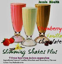 Fast Slimming*Diet Protein Shakes 123 + Free Wild Raspberry Berry juice capsules