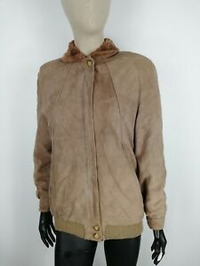MONTONE-VINTAGE-in-PELLE-Cappotto-Giubbotto-Giacca-Jacket-Tg-M-Donna