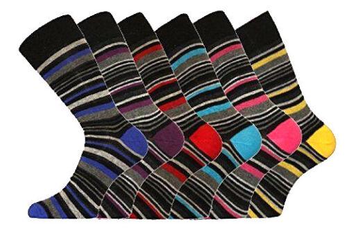 Fête des Pères spécial 3-6 12 Paire Homme Chaussettes-Homme sa cible Stripe Sock Taille 6-11
