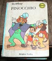 Goldene Happy Bücher PINOCCIO Walt Disney Delphin Verlag 1967 Kinder Fernsehen