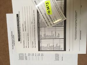 Details About Dot Truck Trailer Inspection Forms Stickers 10 Sets W Inspector Certification