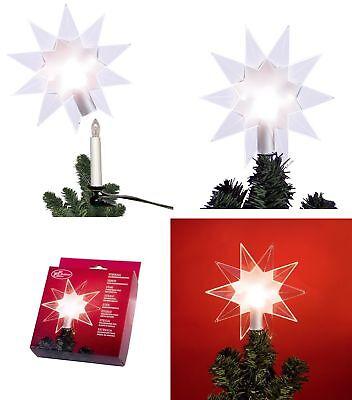 BELEUCHTET Weihnachtsbaumspitze Christbaumspitze Baumspitze Stern Baumschmuck !!